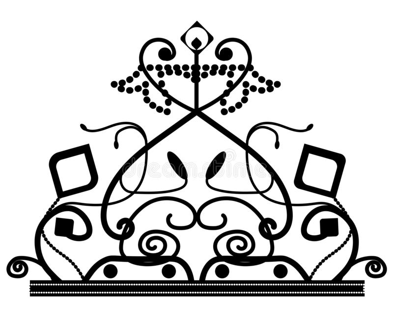 Web. vector elegant decorated crown logo icon with star isolated vector illustration