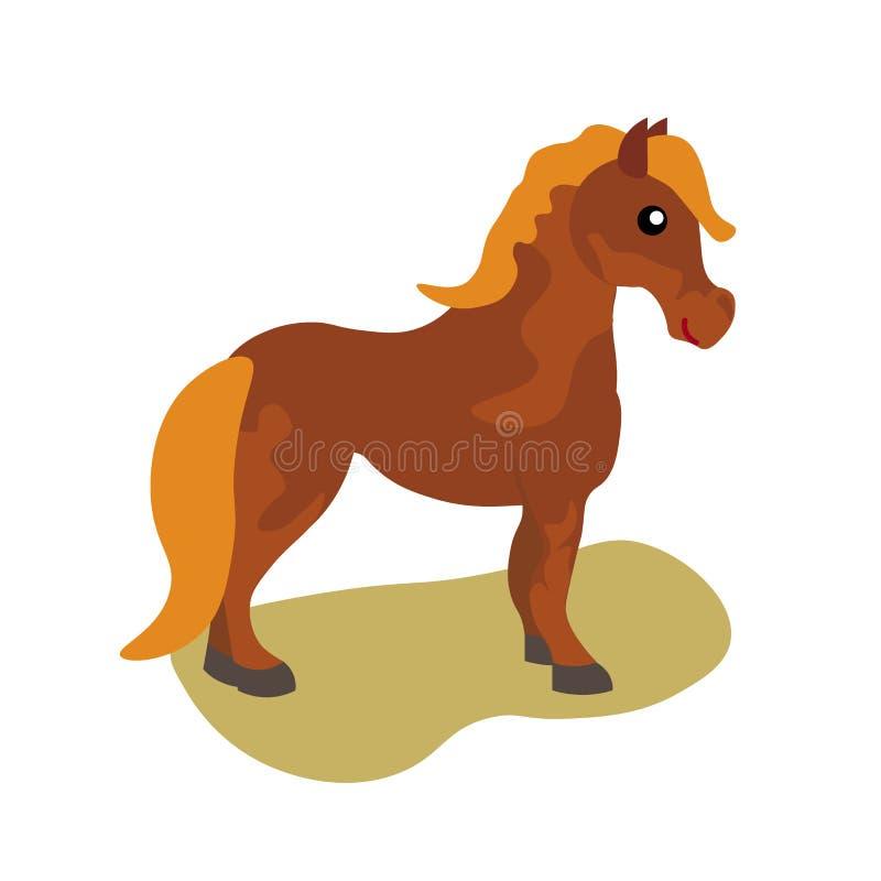 Beautiful horse posing isolated on white background vector illustration