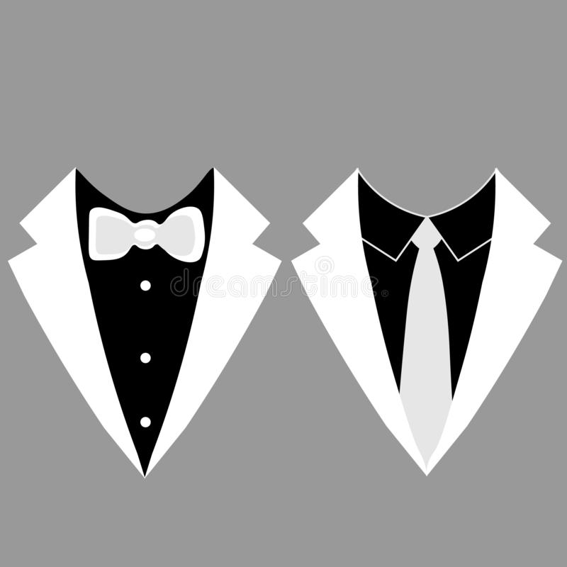Web Tuxedo icon. Vector illustration, EPS 10. stock illustration
