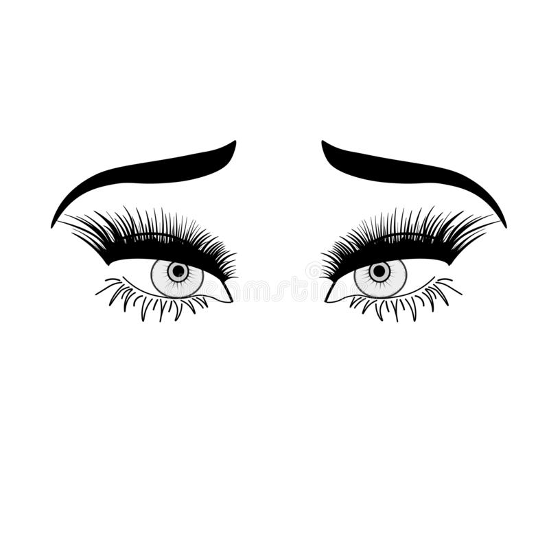 human eyes in comic style. Graphic illustration/ Vector isolated. Various emotions. Eye medication; optometrist, ophthalmologist royalty free illustration