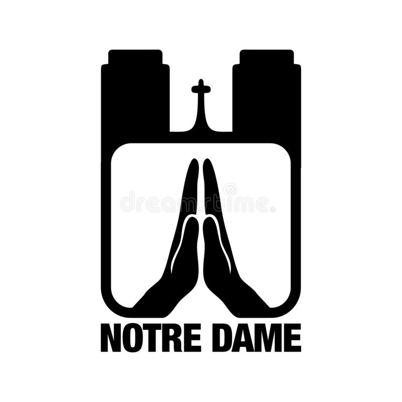 Pray for Notre Dame - cathedral in central Paris. stock photos