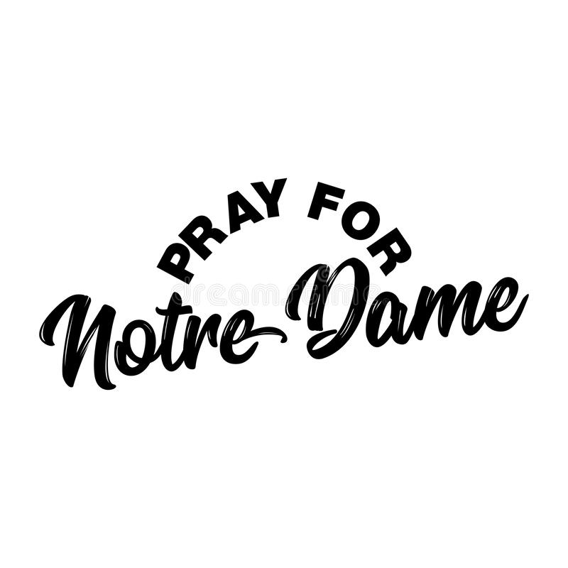 Pray for Notre Dame - cathedral in central Paris. royalty free stock photos