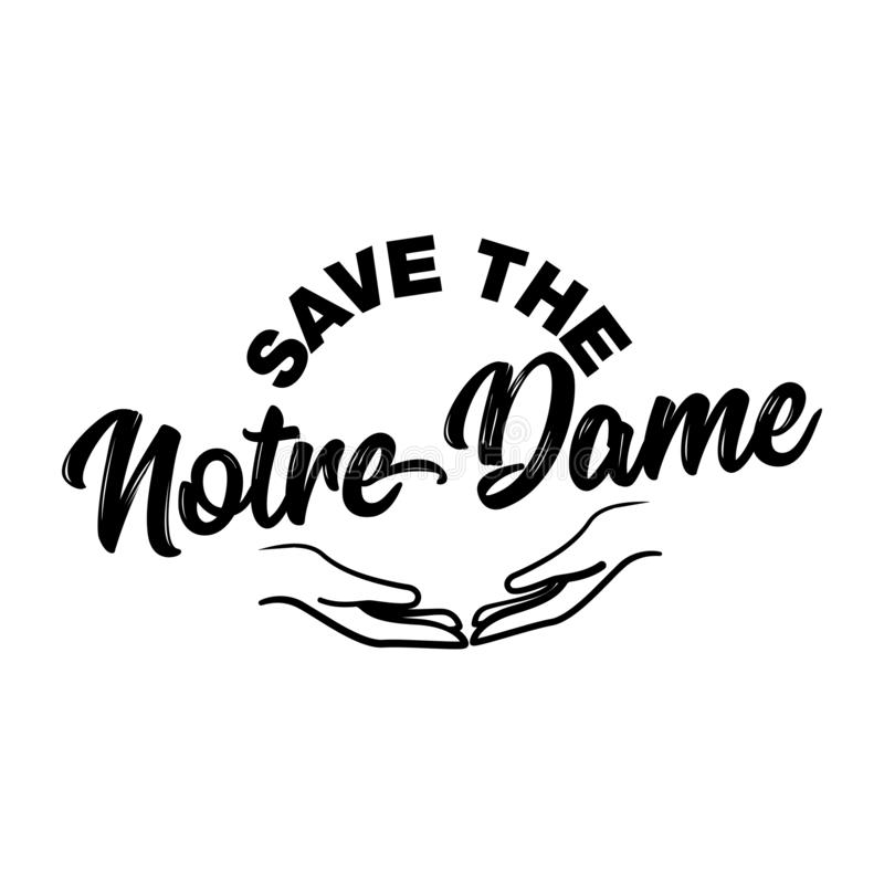 Save the Notre Dame - cathedral in central Paris. royalty free stock photos