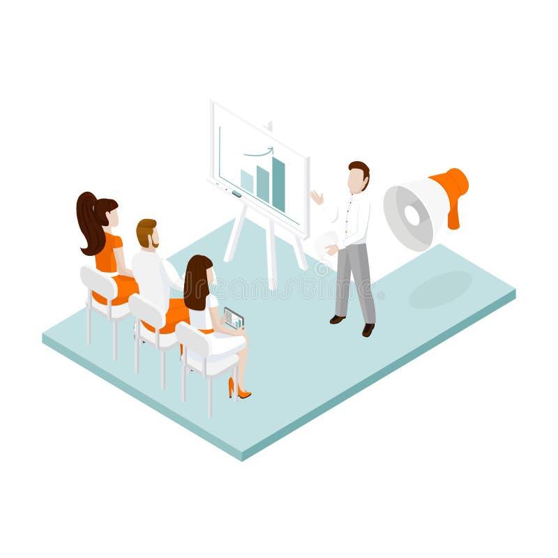 Isometric office team stock illustration