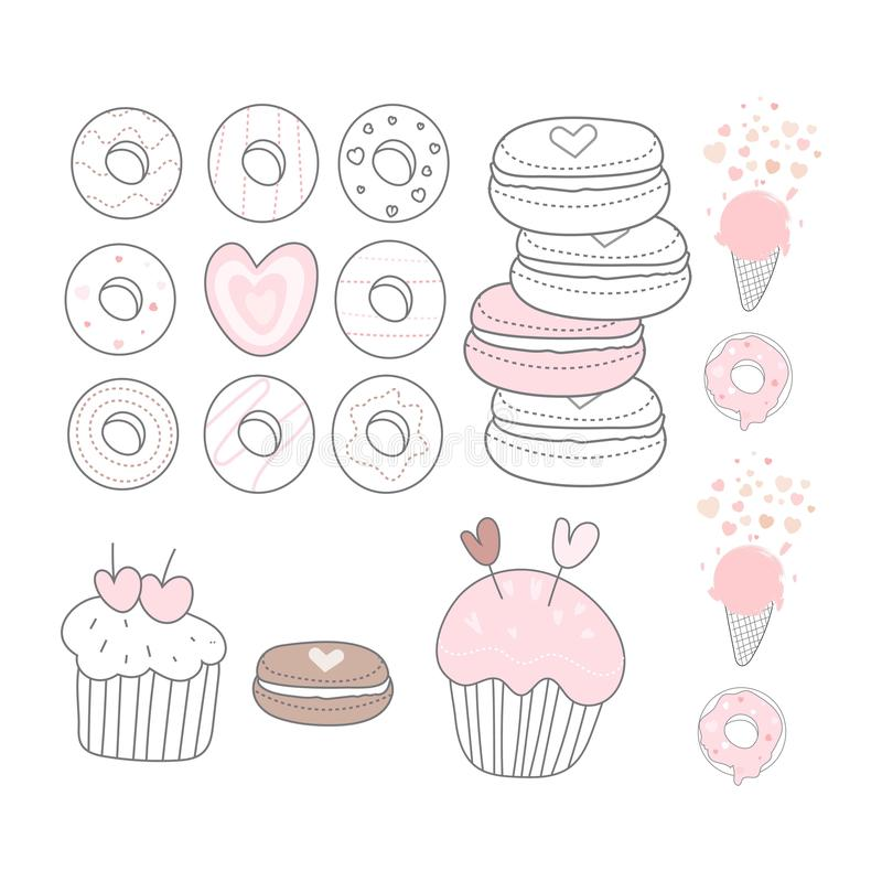 Set of cake logo. Design vector vector illustration