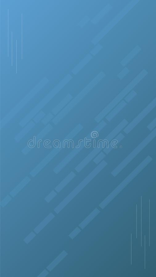 Modern blue banner background for website ads. Suitable for smartphone. Size 1080px by 1920px stock illustration