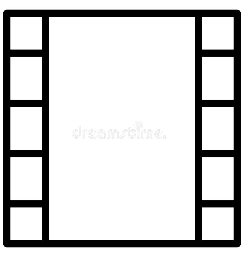 Web Film reel Isolated Vector Icon which can easily modify or edit. Film reel Isolated Vector Icon which can easily modify or edit royalty free illustration