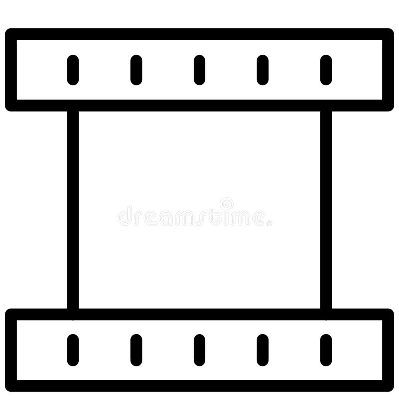 Web Film reel Isolated Vector Icon which can easily modify or edit Film reel Isolated Vector Icon which can easily modify or edit. Film reel Isolated Vector Icon royalty free illustration