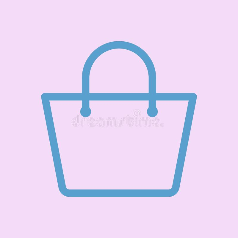 Shopping bag icon. accessories women stock illustration