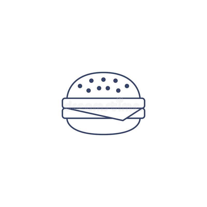 Vector burger for coloring. Illustration for children coloring book. stock illustration