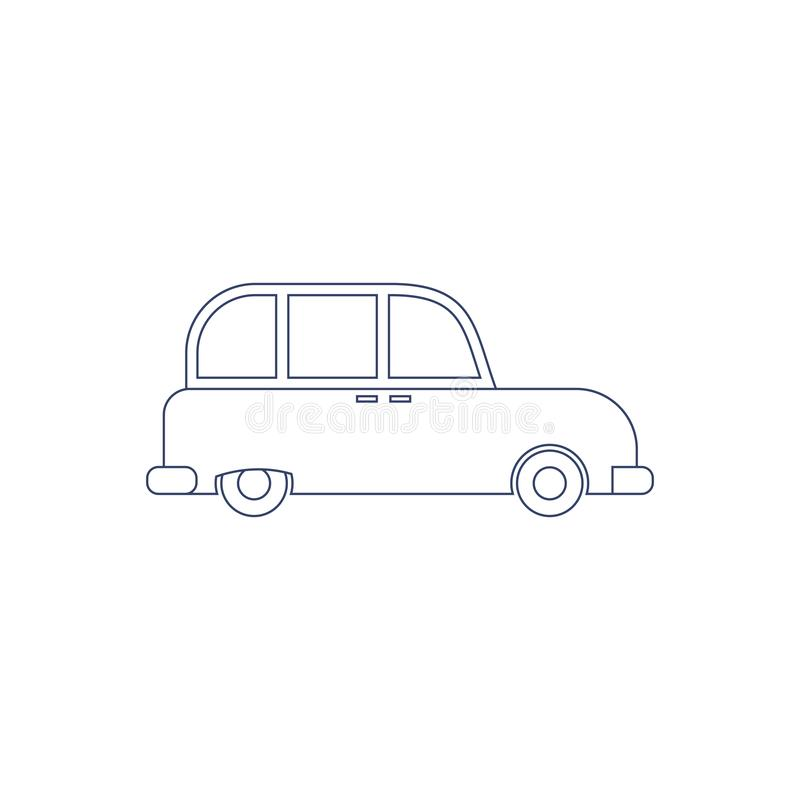 Vector London cab for coloring. Illustration for children coloring book. Vector London cab for coloring. Illustration for children coloring book royalty free illustration