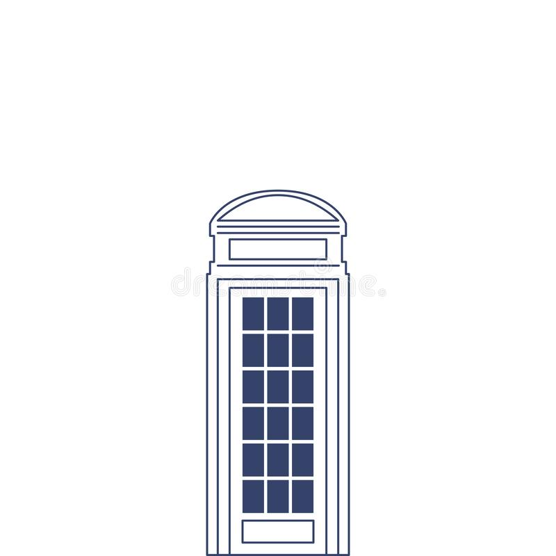 Vector phone box for coloring. Illustration for children coloring book. Vector phone box for coloring. Illustration for children coloring book vector illustration
