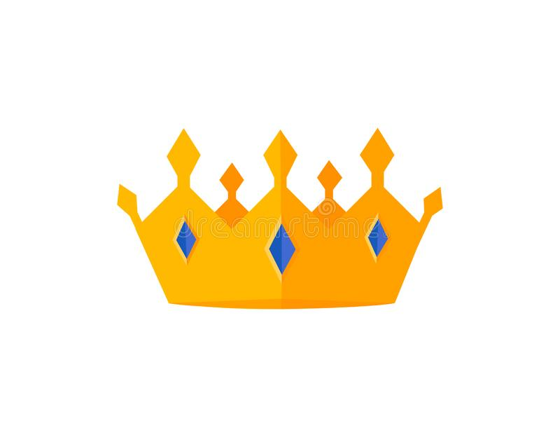Vector gold crowns. stock illustration