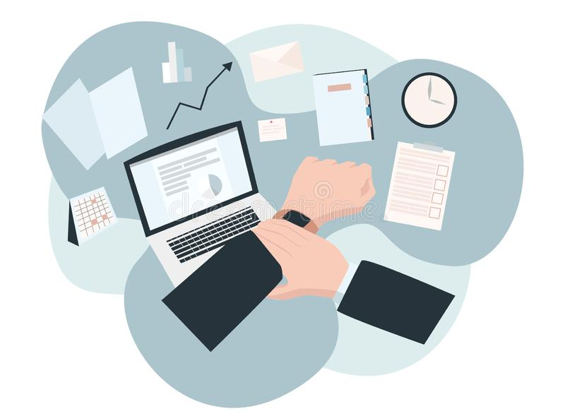 Time management concept royalty free illustration