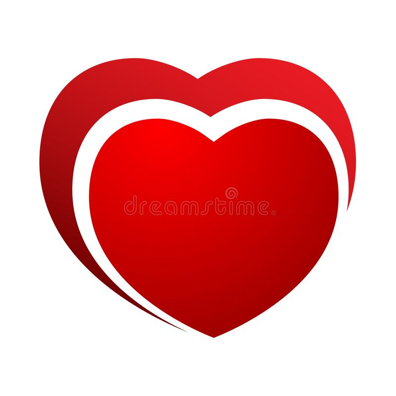 Red vector hearts. Logo royalty free stock photography