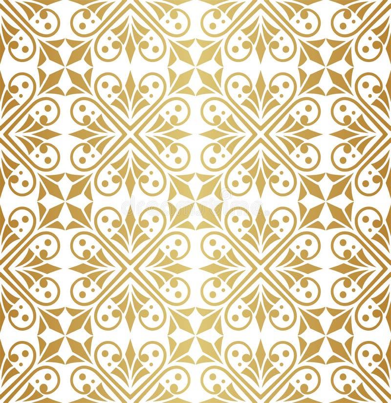Elegant Damask Floral Vector Seamless Pattern. Decorative Flower Illustration. Abstract Art Deco Background. Vector Floral Ornamental Seamless Pattern vector illustration
