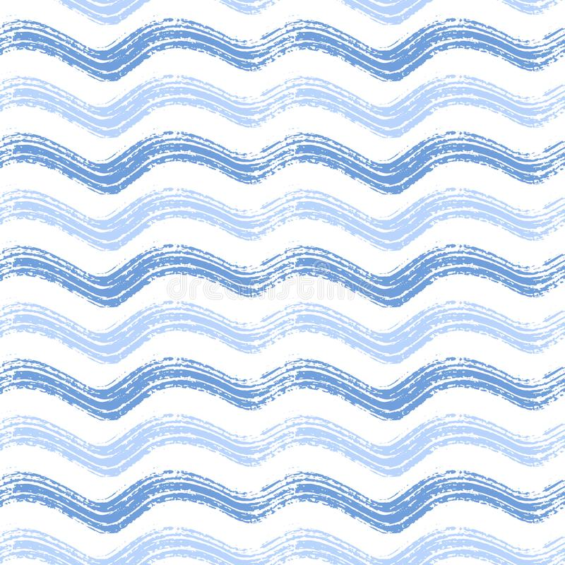 Seamless pattern with hand drawn waves. vector illustration