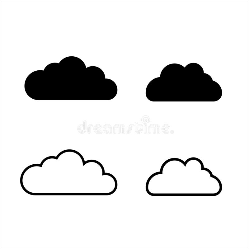 Cloud data and technology line royalty free illustration