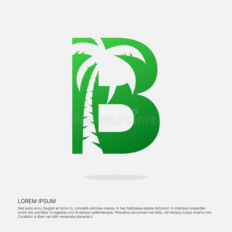 B letter design negative space logotype. royalty free illustration