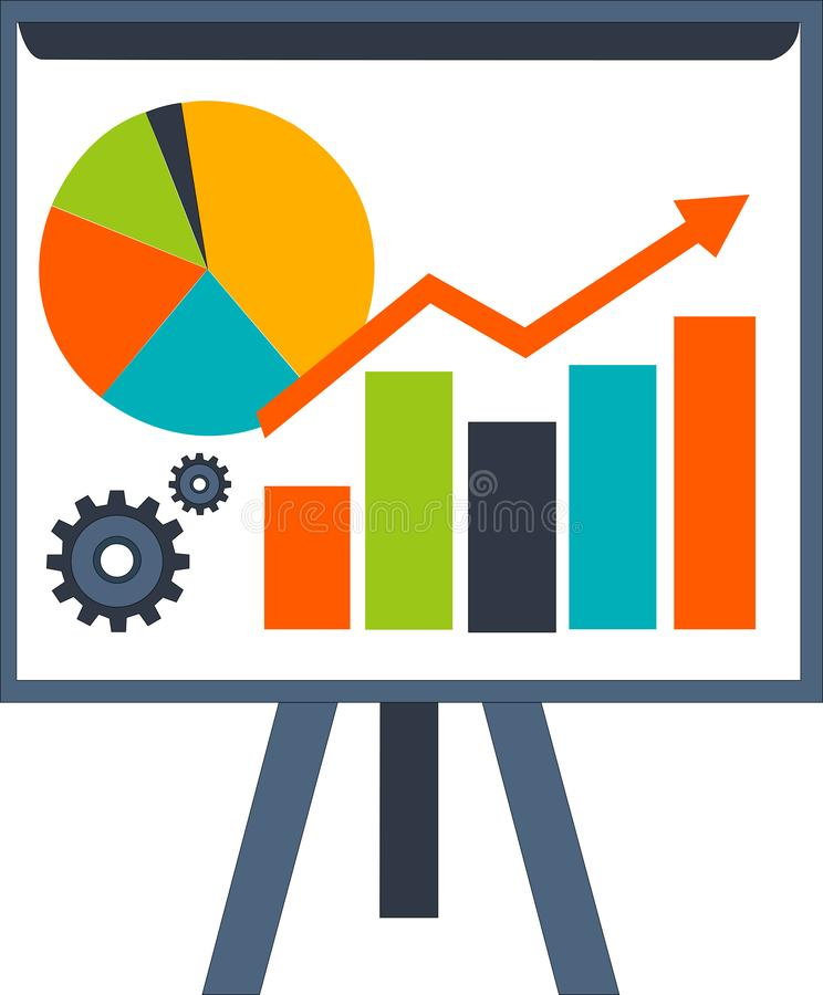 Web Table Business Marketing Economic royalty free stock image