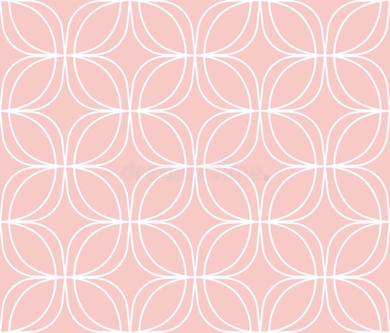 Elegant Damask Floral Vector Seamless Pattern. Decorative Flower Illustration. Abstract Art Deco Background. Vector Floral Ornamental Seamless Pattern stock illustration