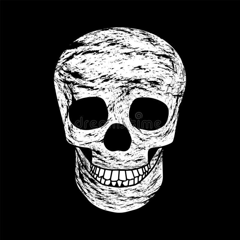 Halloween. Skull on a black background. vector illustration