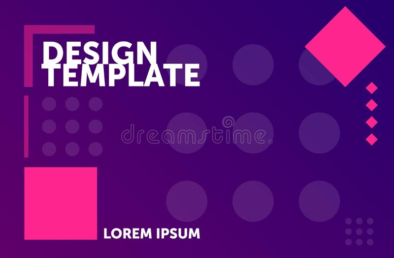 Web design template. Minimal geometric background. colorful abstract composition royalty free illustration