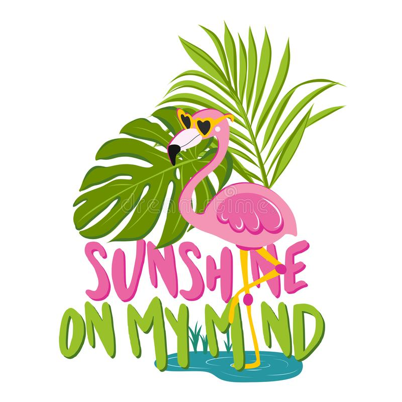 Sunshine on my mind - Motivational quotes. royalty free illustration