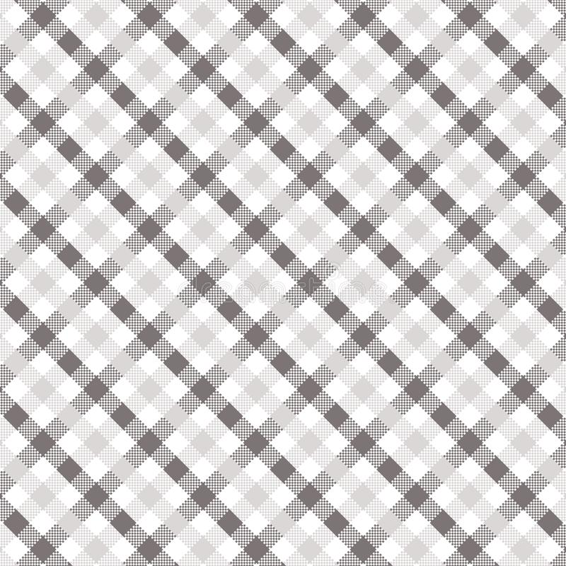 Grey Gingham pattern. Texture for plaid, tablecloths, clothes, shirts, dresses, paper, bedding, blankets, quilts and other textile products. Vector stock illustration