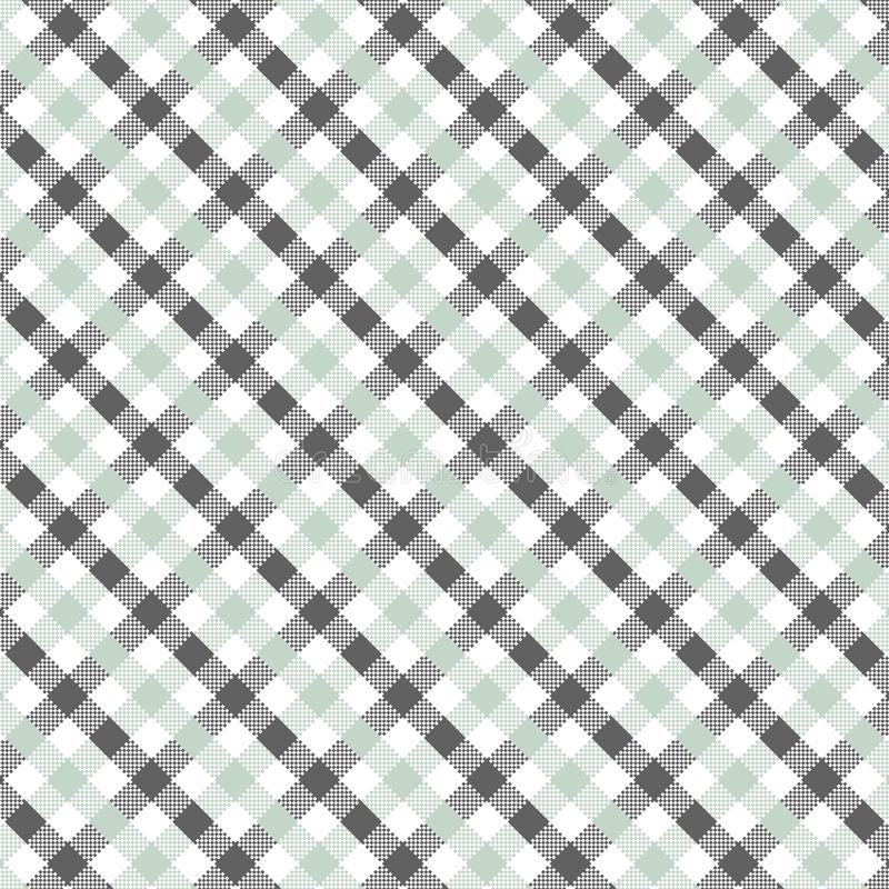 Grey Gingham pattern. Texture for plaid, tablecloths, clothes, shirts, dresses, paper, bedding, blankets, quilts and other textile products. Vector royalty free illustration