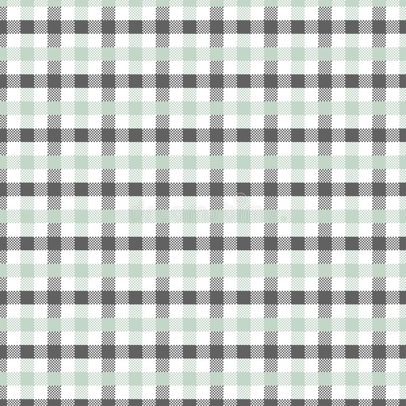 Grey Gingham pattern. Texture for plaid, tablecloths, clothes, shirts, dresses, paper, bedding, blankets, quilts and other textile products. Vector vector illustration