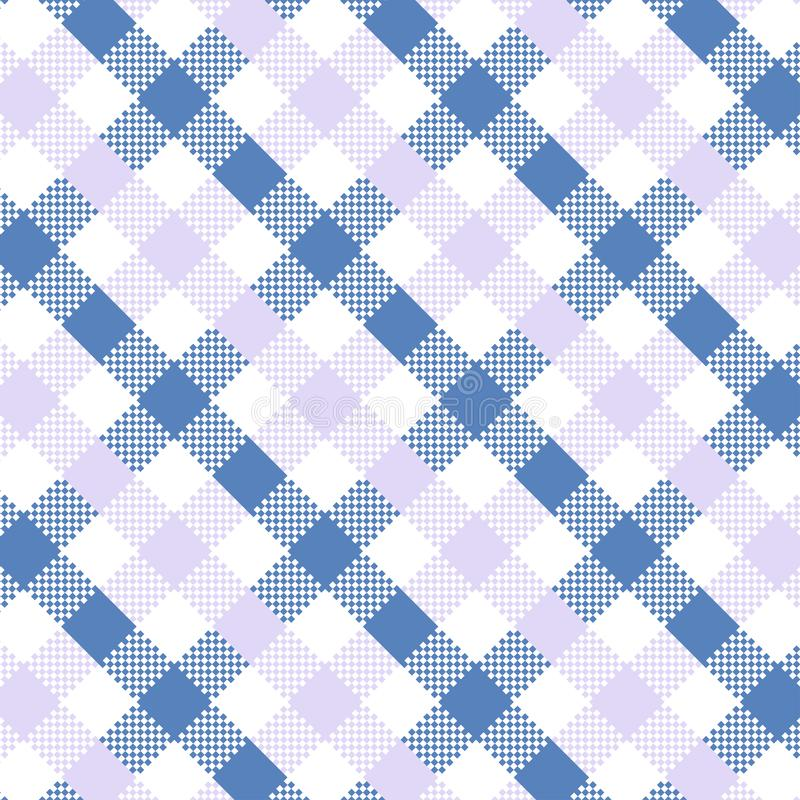 Blue Gingham pattern. Texture for plaid, tablecloths, clothes, shirts, dresses, paper, bedding, blankets, quilts and other textile products. Vector royalty free illustration