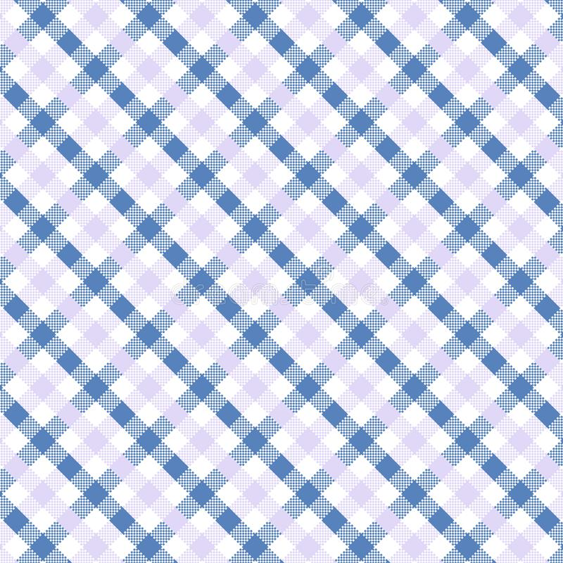 Blue Gingham pattern. Texture for plaid, tablecloths, clothes, shirts, dresses, paper, bedding, blankets, quilts and other textile products. Vector stock illustration