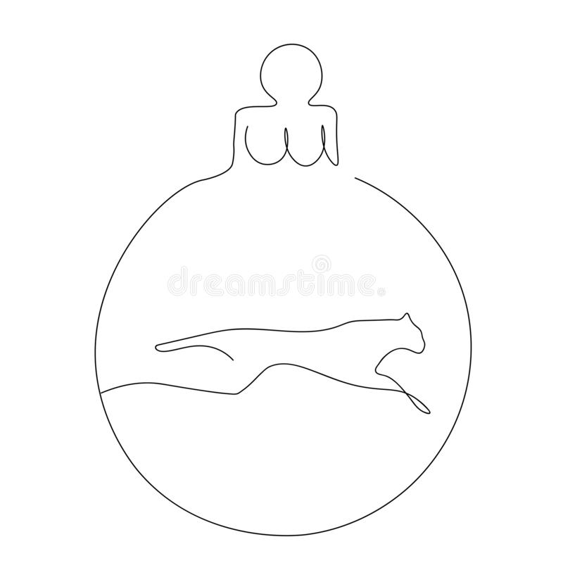 Christmas ball isolated on white, vector. Illustration royalty free illustration