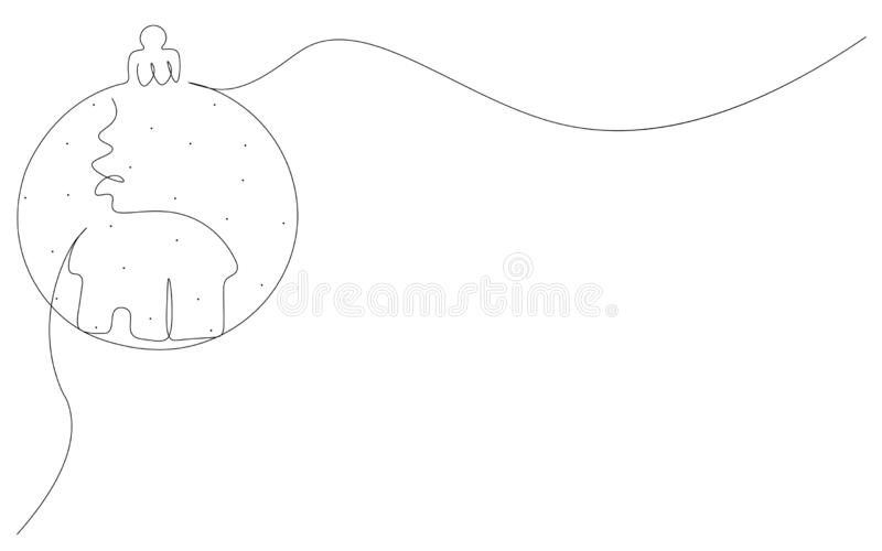 Christmas background with ball ornament on white background, vector. Illustration vector illustration