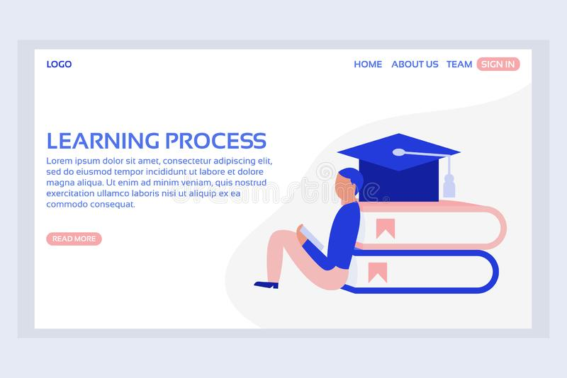 Online education web page concepts. Web page design templates of learning process. Modern vector illustration designs for website development vector illustration