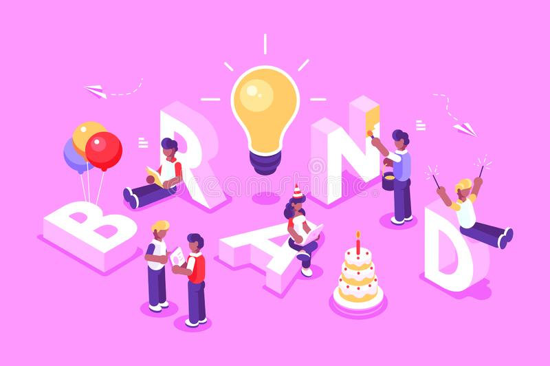 Brand vector text with employers royalty free illustration