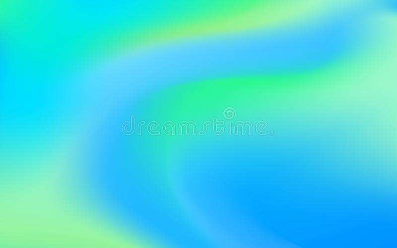 Abstract Blur Background With Smooth Lines. Blue Green Color Gradient Background royalty free illustration