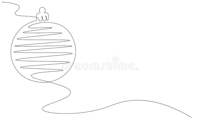 Christmas ball on white background, vector. Illustration royalty free illustration