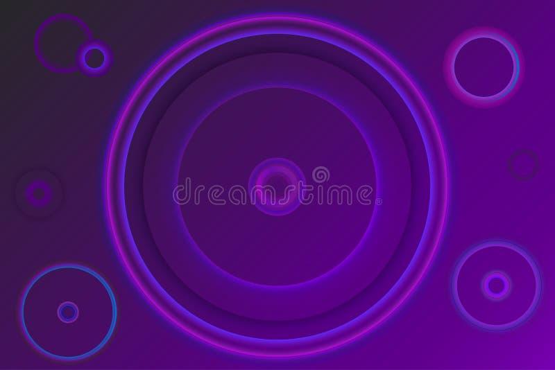 Purple glowing circles  flare background  vector. Purple glowing circles  flare background  graphic  vector neon cool dark vector stock illustration