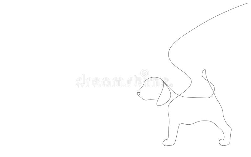 Dog puppy on white background vector. Illustration vector illustration