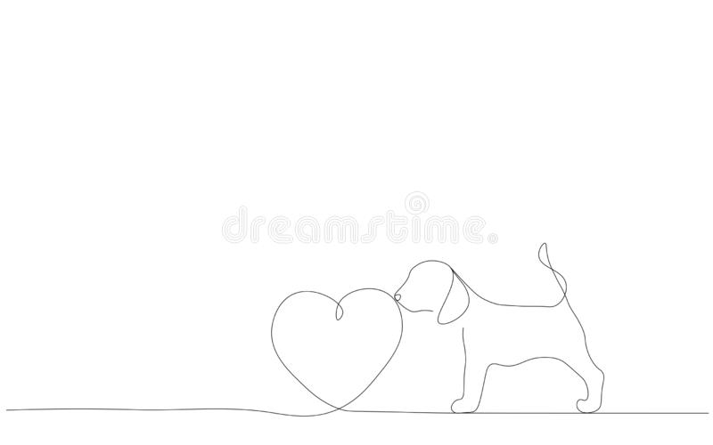 Puppy dog on white background, print vector. Illustration stock illustration
