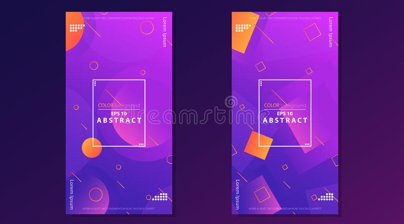Trendy abstract flow gradient shapes composition. Creative geometric wallpaper. Trendy abstract flow gradient shapes composition. Applicable for gift card vector illustration
