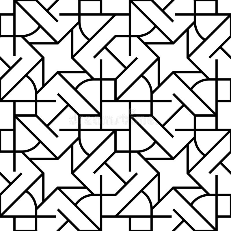 Vector seamless pattern. Geometric background with rhombus and nodes. Abstract geometric pattern vector illustration