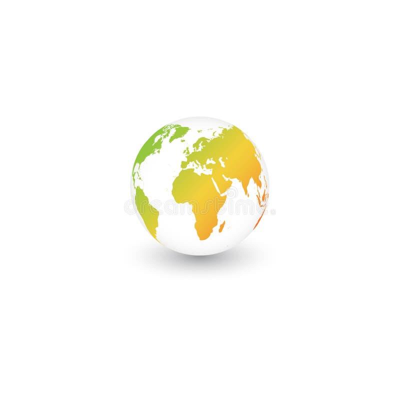 World earth green logo vector illustration