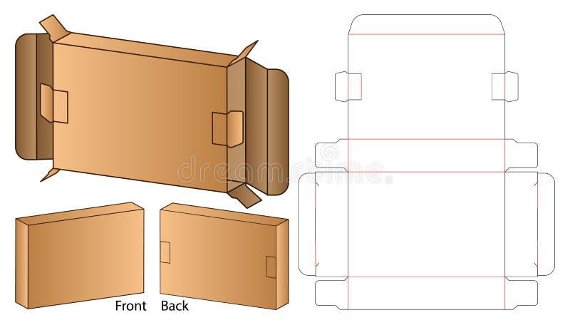 Box packaging die cut template design. 3d mock-up stock image