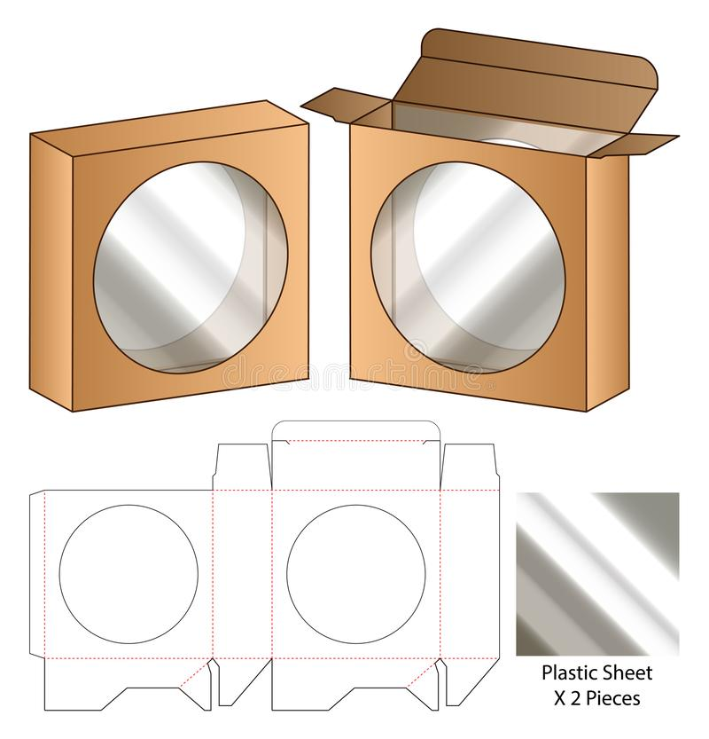 Box packaging die cut template design. 3d mock-up stock photos