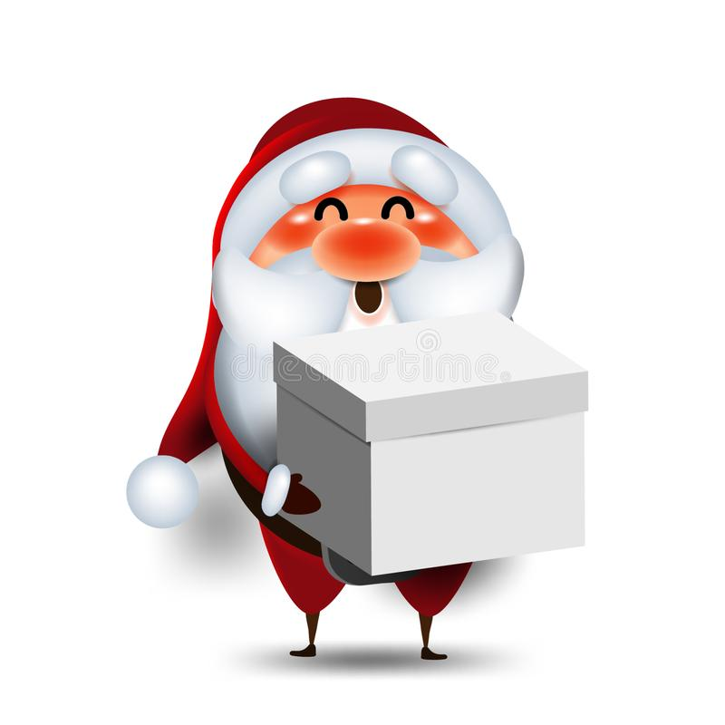 Santa Claus cartoon in front of the white background Christmas elements for artwork banner greeting gift box holiday background ca. Santa Claus cartoon in front vector illustration