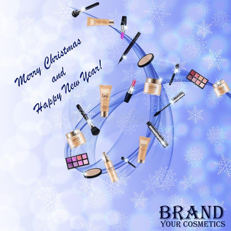Christmas and New Year makeup kits royalty free stock image