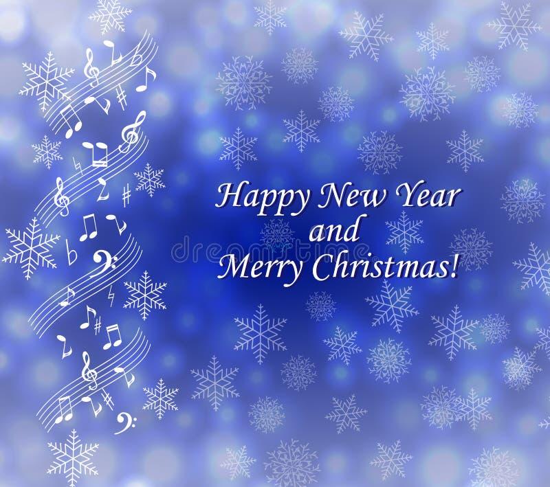 Musical theme Christmas card stock photo